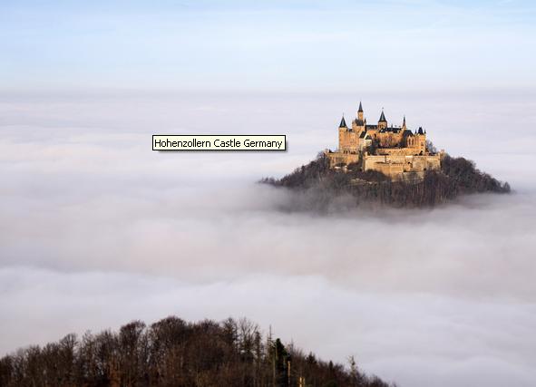 Hoenzollern Castle in Southern Germany