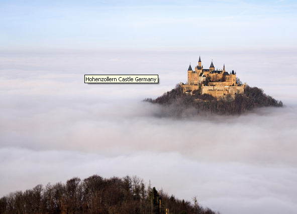 Hohenzollern Castle in Southern Germany