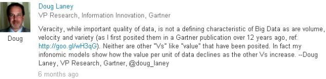 Doug Laney on Veracity
