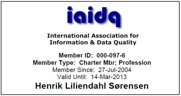 IAIDQ Membership